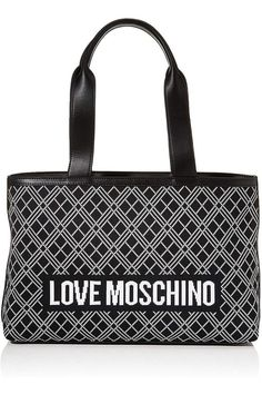 (This is an affiliate pin) Love Moschino BORSA FABRIC NER-BIA? PU NERO Women?s, Black, Normale