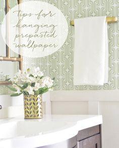 Hanging Prepasted Wallpaper: Tips + Resources | Centsational Girl | Bloglovin'