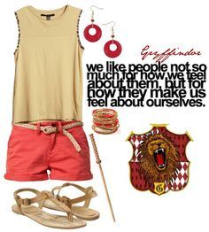 Us Gryffindors like that casual but pretty look.