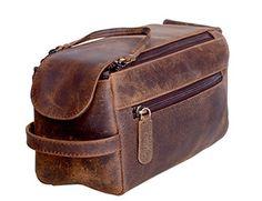 Genuine Buffalo Leather Unisex Toiletry Bag Travel Dopp Kit (Distressed Tan) NEW Dopp Kit, Travel Toiletries, Cosmetic Pouch, Toiletry Bag, Travel Bags, Travel Stuff, Ebay, Buffalo, Unisex