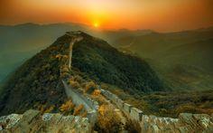 Sunset on the Great Wall http://khoanhkhaccuocsongdep.blogspot.com/p/landscape.html