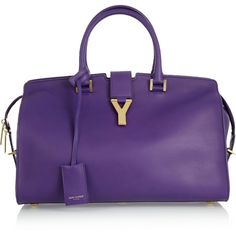 Yves Saint Laurent The Cabas medium leather tote ($2,695) ❤ liked on Polyvore