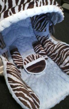 Infant car seat covers Blue Zebra Infant car seat cover Graco 22 lbs. $79.99, via Etsy.