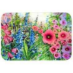 "Caroline's Treasures Easter Garden Springtime Flowers Kitchen/Bath Mat Size: 24"" W x 36"" L"