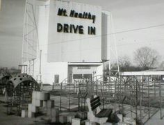 Healthy Drive-In in Mount Healthy, Ohio: Mt. Healthy Drive In picture taken from Compton Road. So many fun memories Cincinnati Neighborhoods, Drive In Movie Theater, County Seat, Moving To California, Ohio River, The Old Days, Old Barns, Vintage Photographs, The Neighbourhood