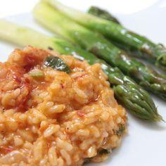 THERMOMIX: Risoto de tomate seco e manjericão com aspargos no...
