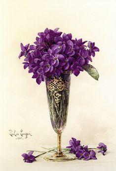 The Athenaeum - Violets (Paul De Longpre - )