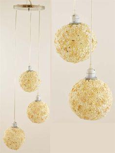 lampadario madreperla : ... lampadario sospensione cilindro doppio madreperla paralume da soffitto