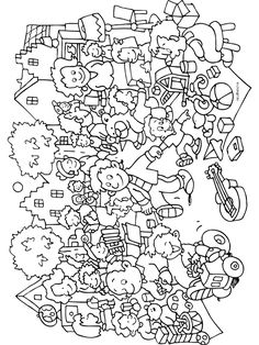 The City Of God Coloring Page
