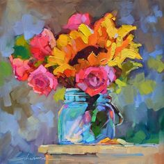"""Коты и цветы"""" Картина маслом"""
