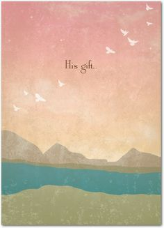 His Gift - Easter Cards in Rose | Magnolia Press