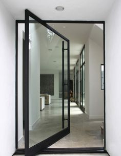 love the size of the door and how it's hinged. #house #architecture