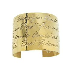 """Stainless Steel """"Best Friends"""" in Gold IP Cuff Bracelet Amazon Curated Collection. $22.00. Made in China. Save 27%!"""
