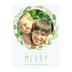 HOLIDAY WREATH | MODERN HOLIDAY PHOTO CARD