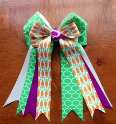 Equestrian Hair Bows Carrots  Year round for by BowdanglesShowBows