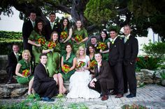 wedding party picture