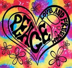 Peace, Love, & Freedom Tie Dye Tapestry  Release your inner hippie and hang this cool peace tapestry on your wall. This tapestry is printed in high quality silk screen on vibrant tie dye cloth. Size: 40 inches by 45 inches. #sunshinedaydream #hippieshop