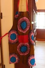 Aprons - Wax Print – Lukhanyiso Arts & Crafts African Design, Aprons, Wax, Arts And Crafts, Contemporary, Handmade, Color, Kitchen, Ideas