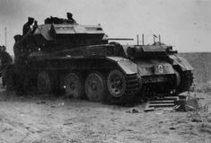 A Beute Panzer example is this modified British Cruiser MK IV tank captured by Afrika Korps forces