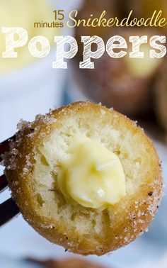 Snickerdoodle Poppers | OMGChocolateDesserts.com | #poppers