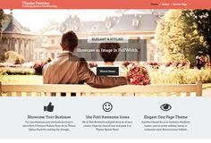 One-Page WordPress WordPress that has elegant and stylish design for a business website.