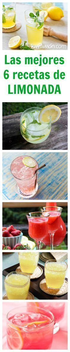 Deliciosas y refrescantes bebidas preparadas con limón: LIMONADAS, minerales y con agua natural. Te encantarán para calmar el calor en esta época.