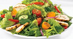 Grilled Chicken Salad Supreme: Chicken salad that bursts with flavor. It looks as good as it tastes when arranged over a fresh salad greens.
