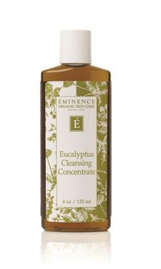 This line called Eminence has THE BEST skincare products ever! I have tried everything..literally everything from cheap to proactive and this works the best. All natural you guys have to try this line. Eucalyptus Cleansing Concentrate