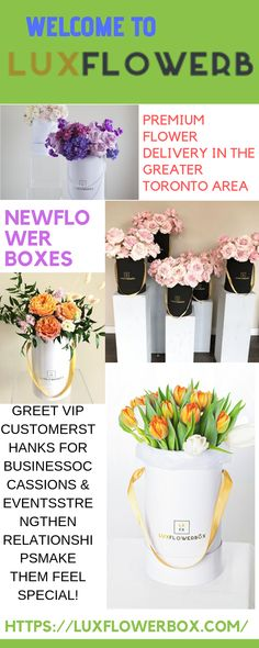 LuxFlowerBox in Vaughan, ON, offers FREE SAME-DAY hand delivery for fresh, elegant & affordable arrangements& gift baskets!