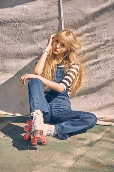 "Oh My Girl members are innocent skater girls in ""LIAR LIAR"" concept photos South Korean Girls, Korean Girl Groups, Sandro, Pink Girl, My Girl, Doug Funnie, Pink Ocean, Hip Hop, Skater Girls"