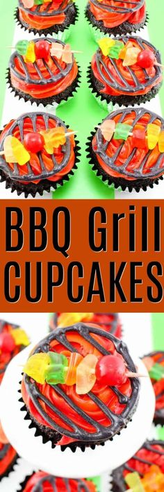 BBQ Grill Cupcakes a