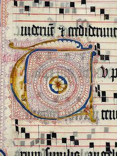 """xiuxiueig:  """" Inicial T  Antifonari, probablement fet a Mainz, Alemanya s.XV  """""""