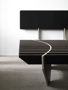 This is such a cool design; flat pack pieces, easy KD, sleek look. I love that the side pieces stress from inducing a curve and keeps it all locked and stable. flat pack bed 7