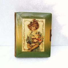 Antique Photo Album Victorian Lithograph  Celluloid by WhimzyThyme, $229.95