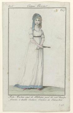 Journal des Dames et des Modes, Costume Parisien, 10 avril 1798, An 6 (30) : Fichu- Turban semé..., Anonymous, 1798