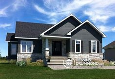 Small & affordable country rustic home photos - drummond house plans exterior, boston Exterior House Siding, Exterior House Colors, Grey Siding House, Siding Colors, Pintura Exterior, Drummond House Plans, Home Exterior Makeover, Pallet House, Grey Houses