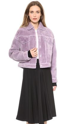 Lilac is really popular this fall! 3.1 Phillip Lim Shearling Jean Jacket