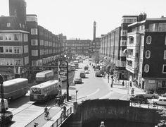 Hoofddorpweg met linksvoor de Zeilbrug Fotofragment: Beeldbank van het Stadsarchief van Amsterdam, 1966