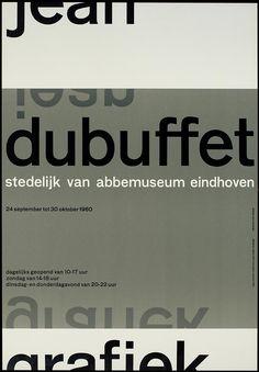 Wim Crouwel – jean dubuffet van abbemuseum eindhoven – 1960 #Crouwel