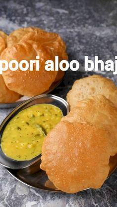 Puri Recipes, Spicy Recipes, Cooking Recipes, Bhaji Recipes, Indian Dessert Recipes, Indian Snacks, Vegetarian Snacks, Vegetarian Cooking, Food Videos