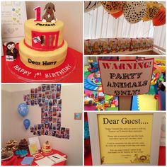 Trying to find a link to this Zoo Birthday Cake, Baby Boy Birthday, 2nd Birthday Parties, Birthday Ideas, Aries Birthday, Harry Birthday, Dear Zoo Cake, Dear Zoo Party, Zoo Party Themes