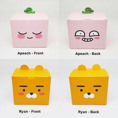 Kakao Friends Ryan Apeach Gift Box 2P Two Face Jewelry Trinket Candy Box Storage #KakaoFriends #AnyOccasion