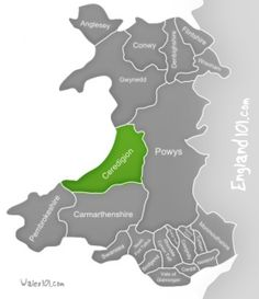Where in Wales is Ceredigion?