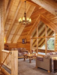 Log Home Balcony/Family Room