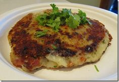 Loaded Potato Cakes, & Fried Cabbage -- Our New Year's Day good luck foods!