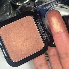 """""""New Spring Blush in Beach Babe from @NYX Cosmetics """" Looks like a more metallic version of MAC trace gold If you have darker skin tones this will be a gorgeous highlight..."""