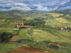 Hagan Fine Art Mary Ann  Cope, Artist in Residence Vineyards of Barbaresco