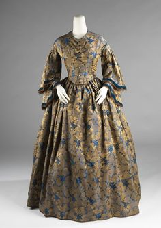 Afternoon Dress, 1850-55, Brooklyn Museum Costume Collection at the Met