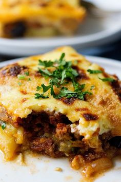 Greek moussaka is a classic comfort food of the Mediterranean region. This step by step moussaka recipe will show you how easy and comforting it is to make this delicious eggplant casserole. Moussaka Recipe Greek, Moussaka Recipe Potato, Moussaka Recipe Vegetarian, Eggplant Moussaka, Veggie Moussaka, Mousaka Recipe, Greek Cooking, Greek Dishes, Cooking Recipes