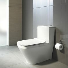 Fashioned bathroom toilet suites supplied by leading and exclusive brands such as Caroma, TOTO and Duravit., Duravit DuraStyle Back-To-Wall Toilet Suite Pool House Bathroom, Master Bathroom Tub, Bathroom Toilets, Bathroom Fixtures, Bathrooms, Duravit, Guest Toilet, Small Toilet, Square Shower Enclosures